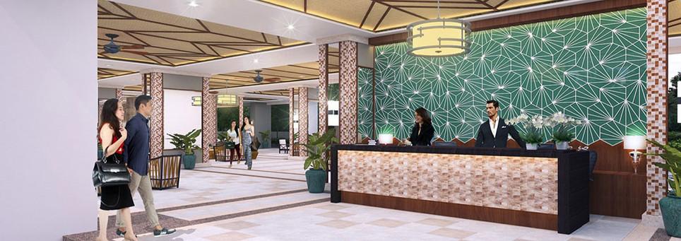 Infina Towers Reception Lobby