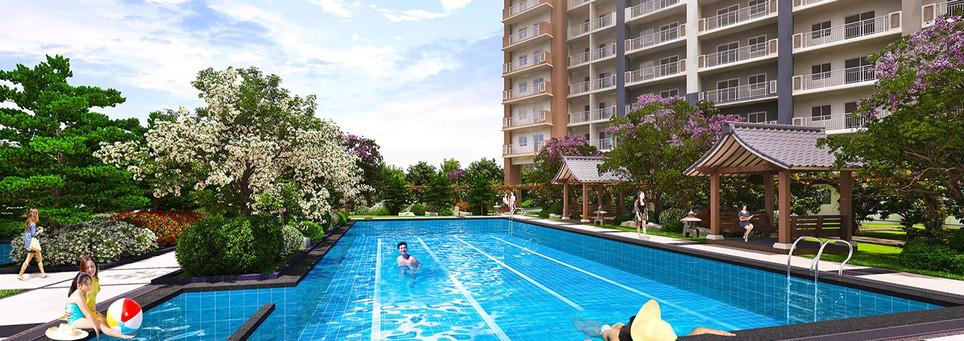 Kai Garden Residences Lounge Pool