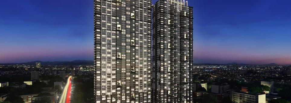 Building Facade Night