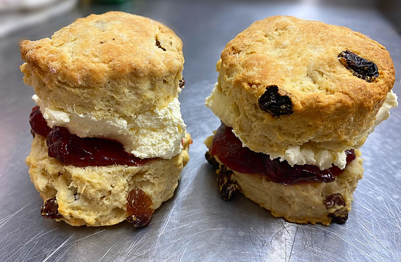 Fruit Scone with Cream & Jam