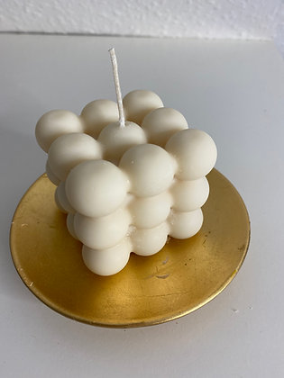 Fresh Linen Bubble Candle in Ivory