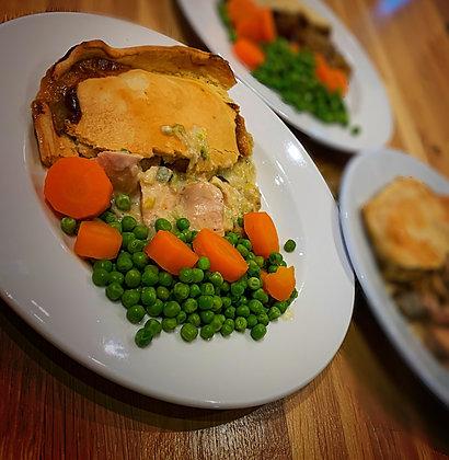 Creamy Chicken & Leek Pie