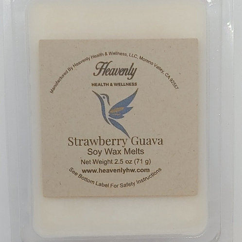 Strawberry Guava- 2.5oz Handcrafted, Soy Wax Melts