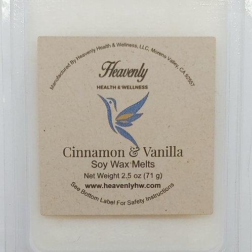 Cinnamon & Vanilla- 2.5oz Handcrafted, Soy Wax Melts