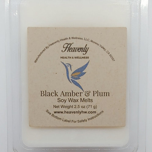 Black Amber & Plum- 2.5oz Handcrafted, Soy Wax Melts