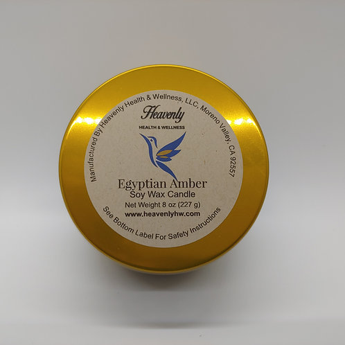 Egyptian Amber- 8oz Handcrafted, Soy Wax Candle