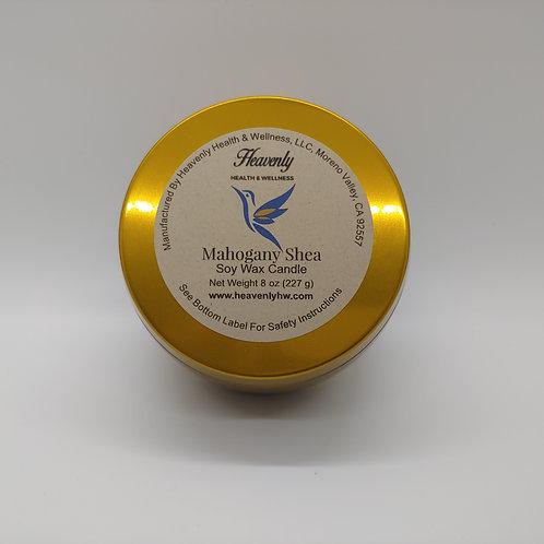 Mahogany Shea- 8oz Handcrafted, Soy Wax Candle