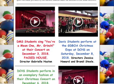 Superintendent's Message Dec. 10, 2018