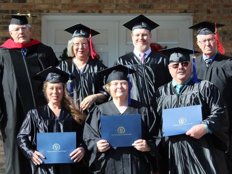Bible Institute Graduates Three