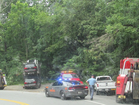 Car Carrier Crash Complicates Commute; Or Why I Didn't Go To The B of E Meeting