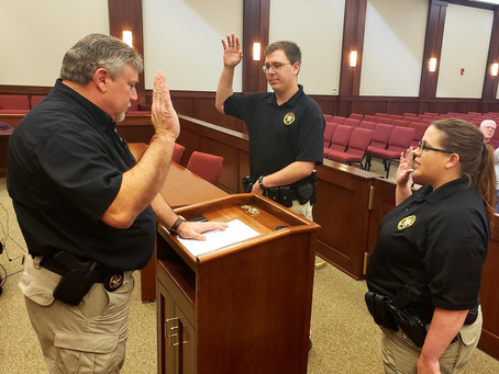 Sgt. Chad Reports: Welcome, New Deputies!