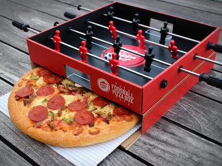 Pizza Hut crea una caja de pizza que funciona como un futbolito