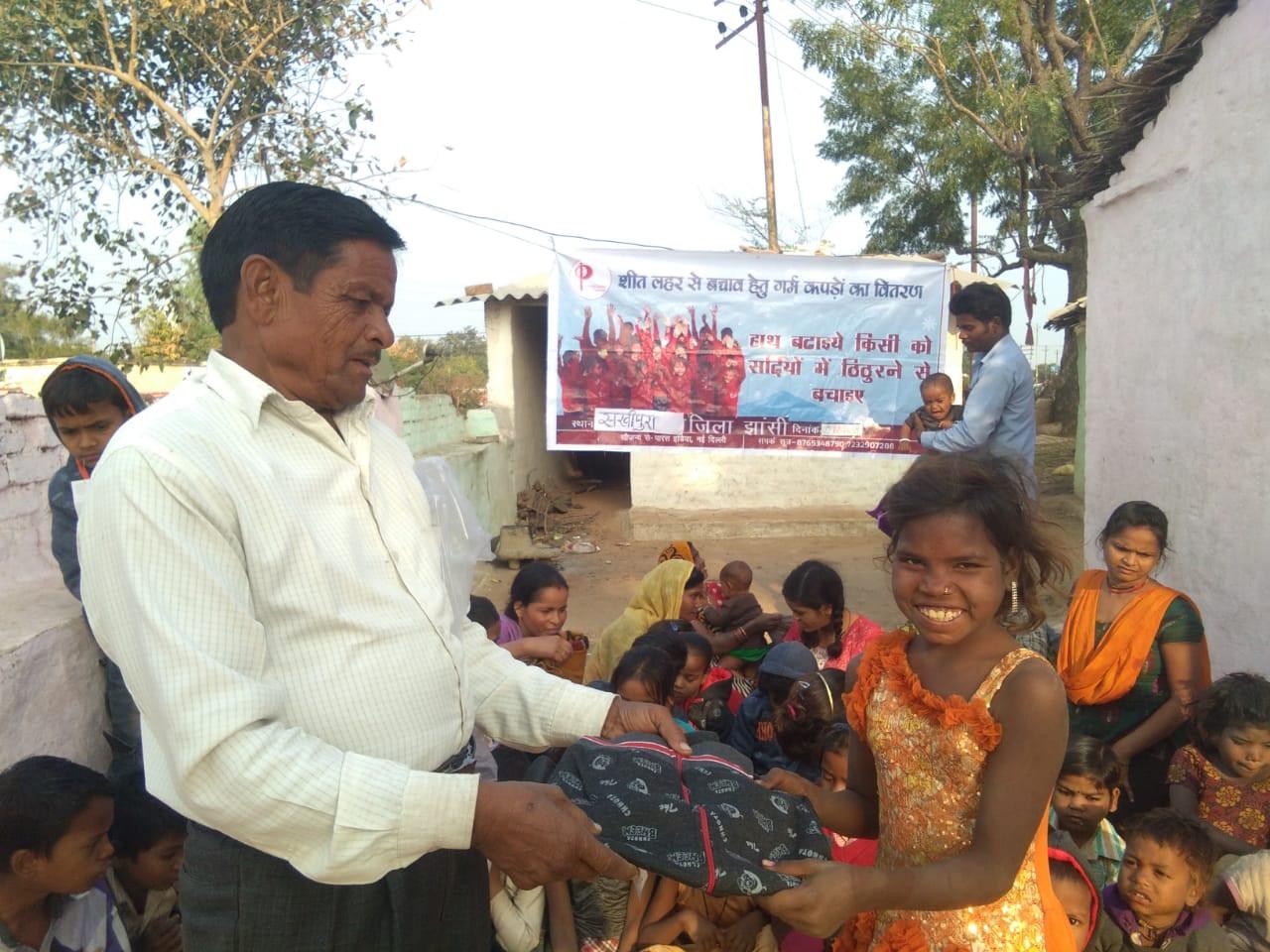 Sweater Distribution | ParasIndia