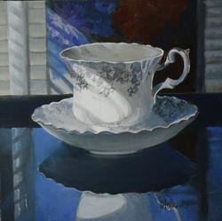 "Petronilla's Tea Cup, 12x12"""