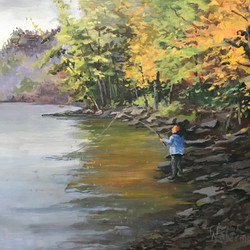 Great day for fish-20x16