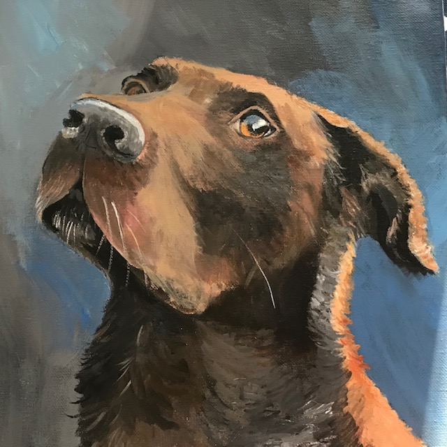 Charlie 12x12_, Custom animal portrait