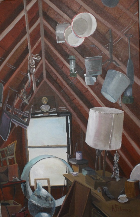 Attic's Treasures, 24x36""