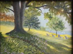 "Shadowy Tree, 9x12"" Sold"