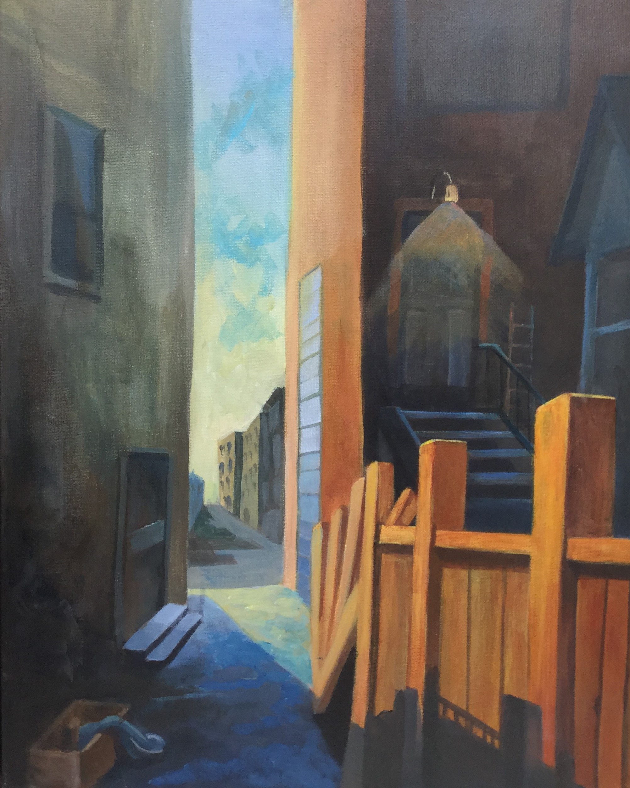 Back Alley Light, 20x16""
