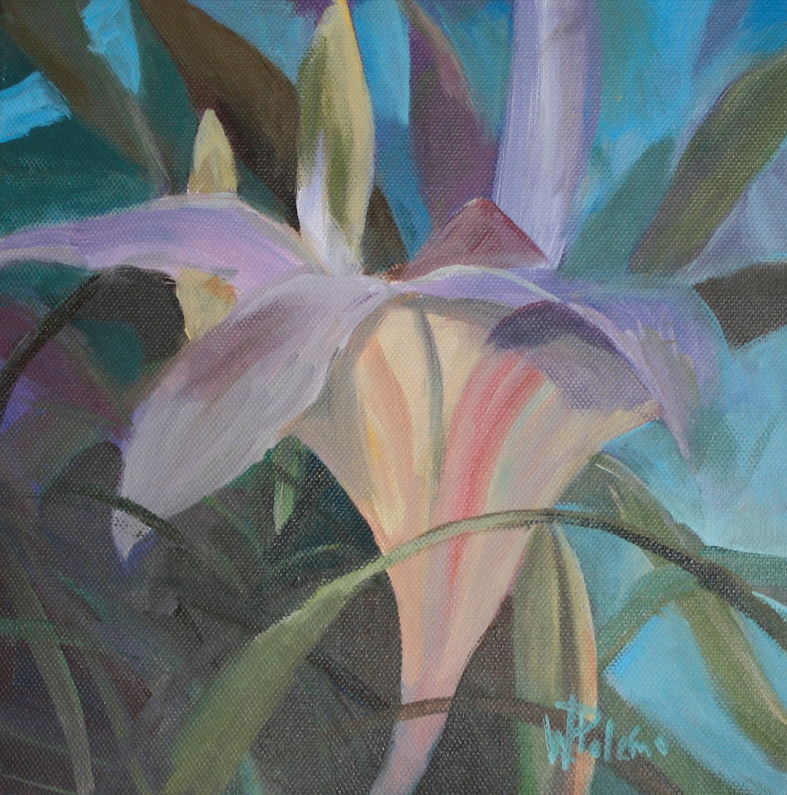 Lilly in Waiting, 12x12""