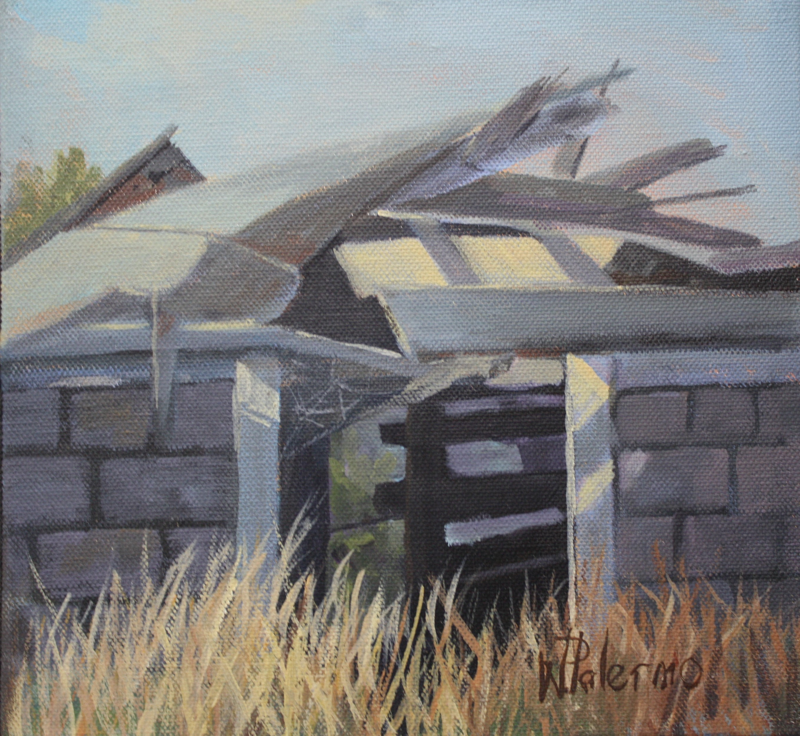 "Forgotten Sunny Shed,10x10"", Sold"