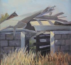"""Forgotten Sunny Shed,10x10"""", Sold"""