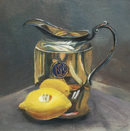 "Lemon & Pitcher, 12x12"", Sold"