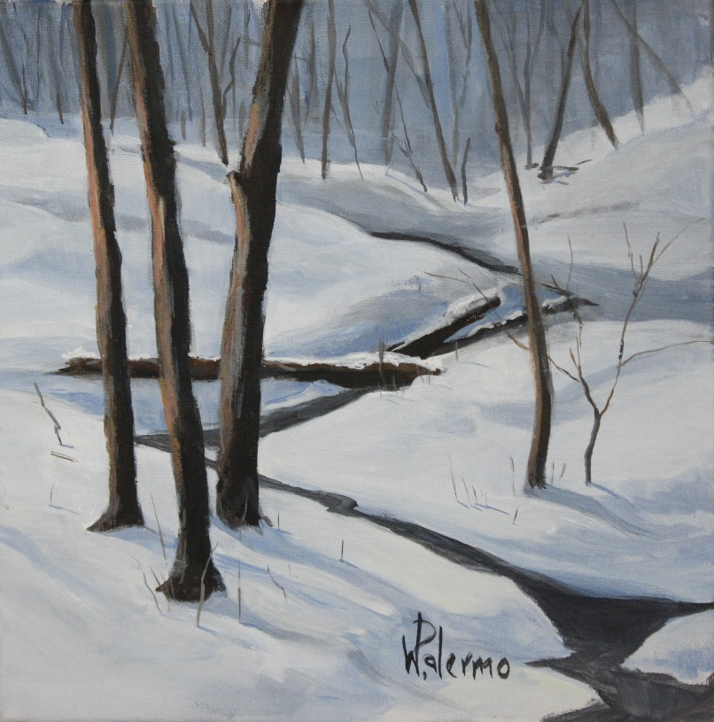 Late Winter's Snowfall, 12x12