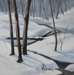 Late Winter's Snowfall, 12x12