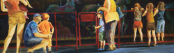 """Carousel of Dreams, 36x12"""", Sold"""