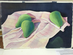 Trio of Pears 20x12