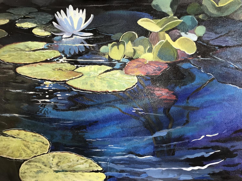 "Lily Pad Pond, 20x16"""