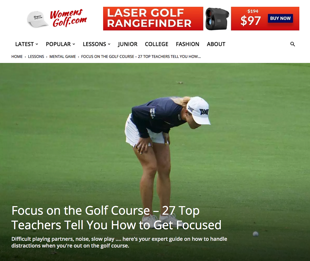 Focus on the Golf Course - Womensgolf.com link
