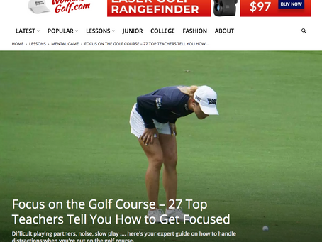 """Proudly Featured on WomensGolf.com's newest article on """"Focus""""!"""