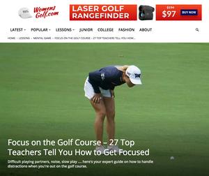 Focus on the Golf Course - Womensgolf.com link