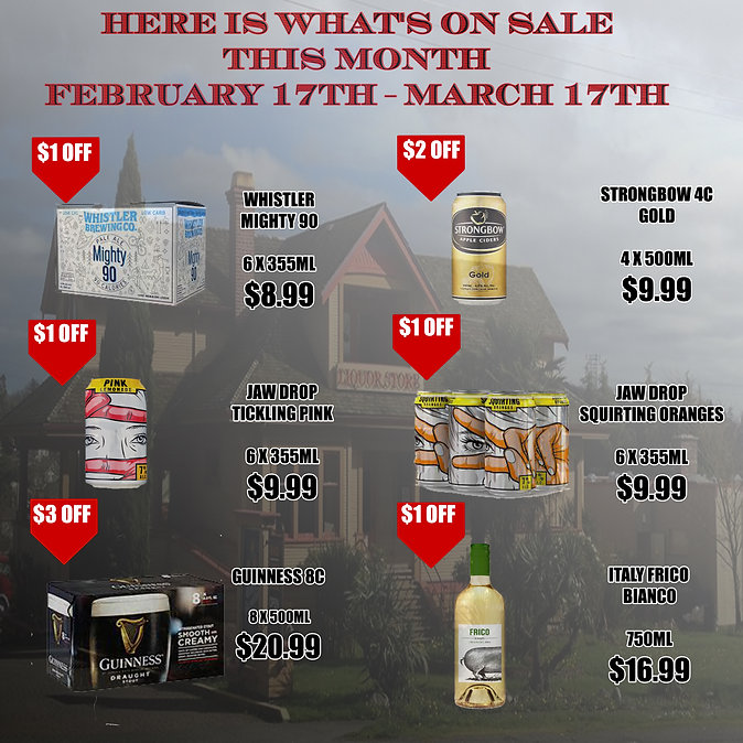 Here is What's on sale monthly E-mail PG