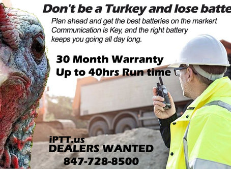 Don't be a Turkey, increase your Two Way Radio Battery Life 8%, 13% or more