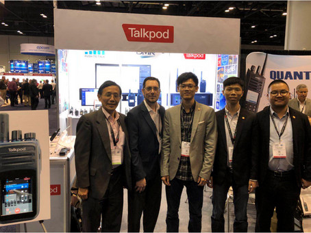 Talkpod PoC and DMR Solutions Successfully exhibited at IWCE 2018