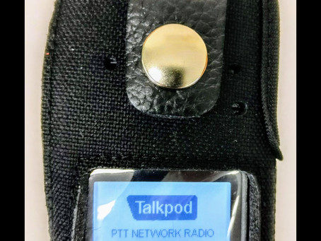 We now have a rugged padded nylon & leather carrying cases with D Swivel belt loop for our Talkp