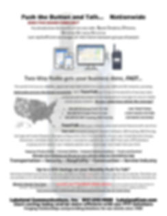 Information Flyer for Nationwide PoC push to talk over cellular 4G LTE Network