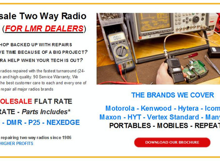 Wholesale Two Way Radio Repair (For LMR Dealers)