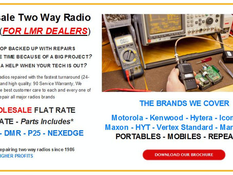 Wholesale Two Way Radio Repair (For LMR Dealers)