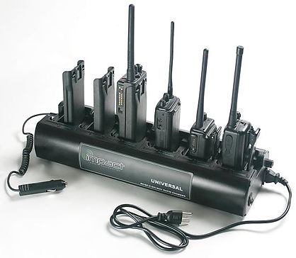 two way radio battery charging system