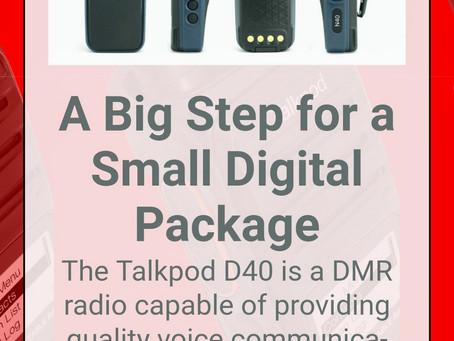 Talkpod's NEW Digital DMR D40 Two Way Radio