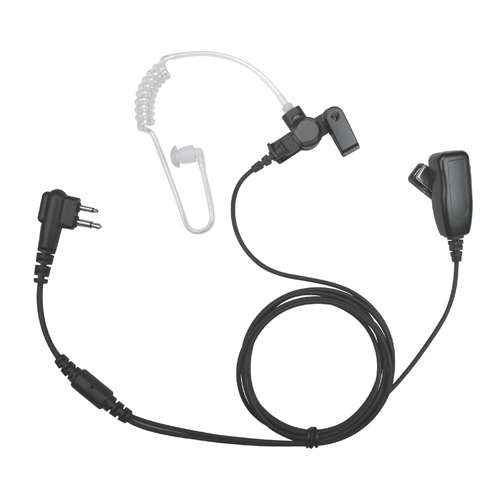 acoustic tube 2 wire two way radio surveillance ear piece