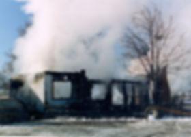 Historical fire scene photo