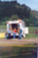 Historical photo of EMS preparation