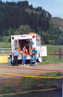 Historical photo of EMS preparation