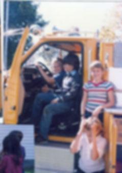 Historical photo of children in apparatus