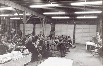 Historical photo of board meeting